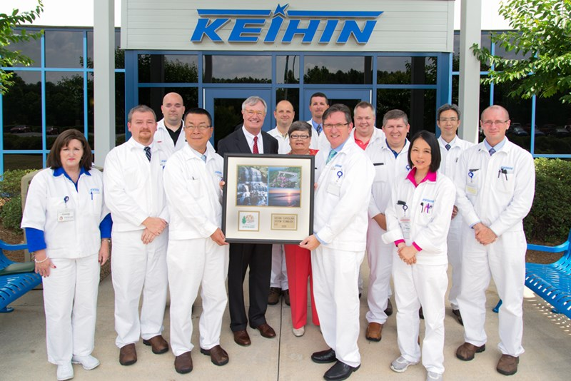 part of our team here at Keihin North America being presented with an award